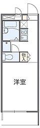 JR青梅線 小作駅 徒歩18分の賃貸アパート 1階1Kの間取り