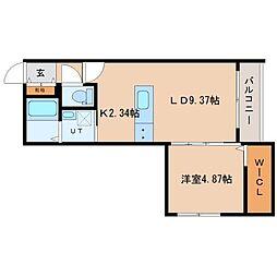 LBOX札幌[2階]の間取り