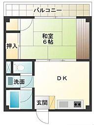 東京都調布市下石原1丁目の賃貸マンションの間取り