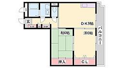 兵庫県神戸市北区鈴蘭台西町5丁目の賃貸マンションの間取り