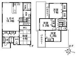 [一戸建] 大阪府堺市南区高倉台2丁 の賃貸【/】の間取り