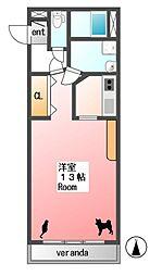 すずらんVII[3階]の間取り