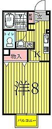 千葉県柏市富里1の賃貸アパートの間取り