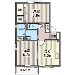 ウル・アビタシオンA[2階]の間取り