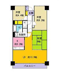 エクセレントコート八尾駅前[7階]の間取り