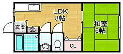 第一パークマンション[2階]の間取り