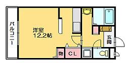セゾンデルミエール[2階]の間取り