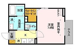 D-room新井 1階1Kの間取り