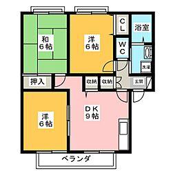 三重県伊賀市西明寺の賃貸アパートの間取り