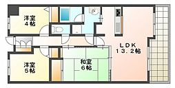 広島県広島市西区己斐上1丁目の賃貸マンションの間取り