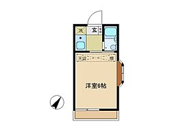 埼玉県所沢市小手指町2丁目の賃貸アパートの間取り