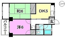 第18みのりハイツ福音寺[505 号室号室]の間取り