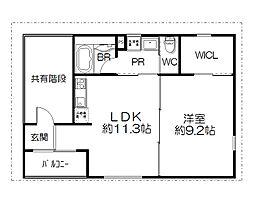 大久保駅すぐのデザイナーズマンション[02BASE 3F号室]の間取り