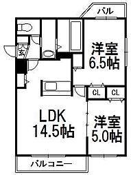 カプチーノ[305号室]の間取り