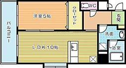 ラフィーネ金田[7階]の間取り