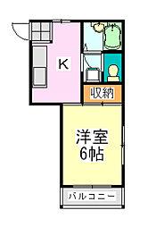 メゾンドール[2階]の間取り