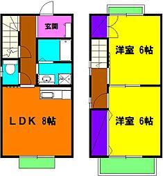 [テラスハウス] 静岡県浜松市東区将監町 の賃貸【/】の間取り