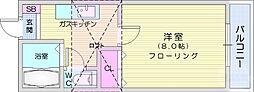 サンシャイン日本平1号館 1階1Kの間取り