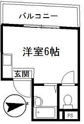 ケーズキューブ[3階]の間取り