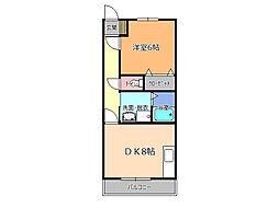 栃木県宇都宮市上大曽町の賃貸アパートの間取り