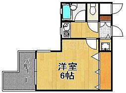 ダイナコート大博通り[9階]の間取り