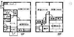 [一戸建] 兵庫県姫路市梅ケ谷町 の賃貸【/】の間取り