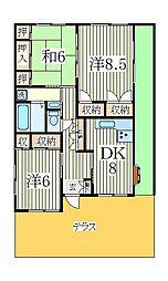 ストーム桜台[1階]の間取り