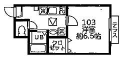 DSコート・21・INOKATA[1階]の間取り