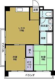 築港武智マンション[5階]の間取り