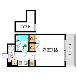 大阪府大阪市都島区都島本通4丁目の賃貸マンションの間取り
