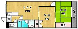 津田NSマンション[4階]の間取り