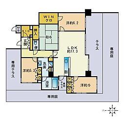 MJR藤崎2丁目 1階4LDKの間取り