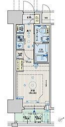 クリスタルグランツ大阪センター[5階]の間取り