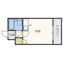 EPO長堀レジデンスII[6階]の間取り