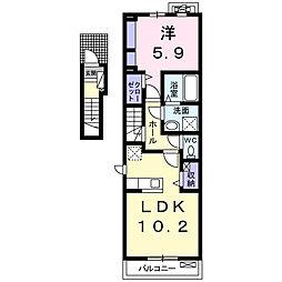 東方町4丁目アパート[205号室]の間取り