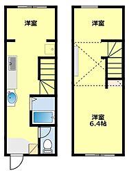 愛知県豊田市平戸橋町下井畑の賃貸アパートの間取り