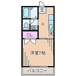 神奈川県川崎市幸区北加瀬2丁目の賃貸アパートの間取り