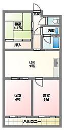 大阪府寝屋川市木田町の賃貸マンションの間取り