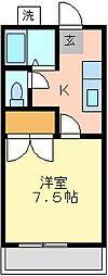 コーポサーブI[2F号室]の間取り