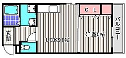 大阪府堺市堺区北田出井町1丁の賃貸アパートの間取り