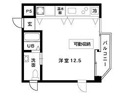 阪神本線 魚崎駅 6階建[204号室]の間取り