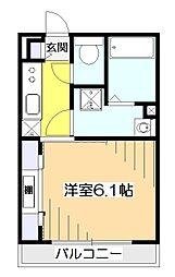 東京都小平市たかの台の賃貸アパートの間取り