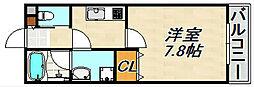 ワコーレヴィアーノ須磨寺町 1階1Kの間取り