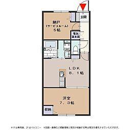 ラフィネ姫島[103号室号室]の間取り