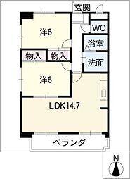 伏木天王マンション[2階]の間取り