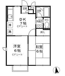 Grandeur・Huit B棟[1階]の間取り