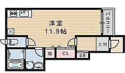 大阪府大阪市港区市岡3丁目の賃貸アパートの間取り