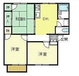 ハイム香龍 B棟[2階]の間取り