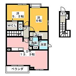 グランドステージ豊潤 D[2階]の間取り