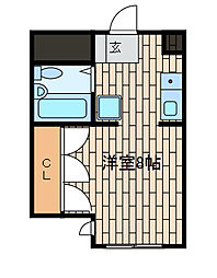 サンクレール相模原[2階]の間取り